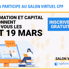 Audencia participe au salon virtuel CPF Top Formation