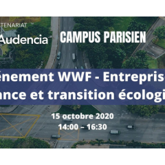 Evènement WWF et Audencia: relance et transition écologique