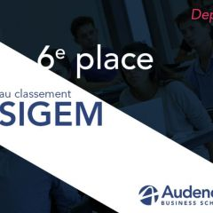 Audencia Business School renforce sa 6e  place au classement SIGEM