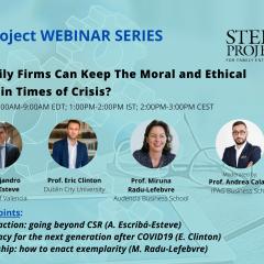 Webinaire STEP : l'éthique et la morale en temps de crise ?