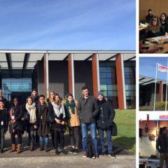 Les étudiants d'Audencia en visite chez Desoutter