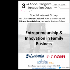 Entrepreneurship and innovation in Family Business