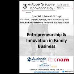Entrepreneurship and innovation in Family Business