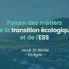Forum des métiers de la transition écologique et de l'ESS
