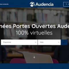 Audencia lance sa plateforme de  Journées Portes Ouvertes virtuelles