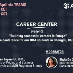 Career Centre Webinar: Building successful careers in Europe