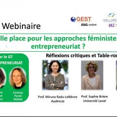 Quelle place pour les approches féministes en entrepreneuriat?